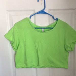 Lime green crop top size M